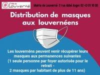 Port du masque obligatoire : distribution de masques aux louvernéens