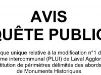 Modification du PLUI : avis d'enquête publique